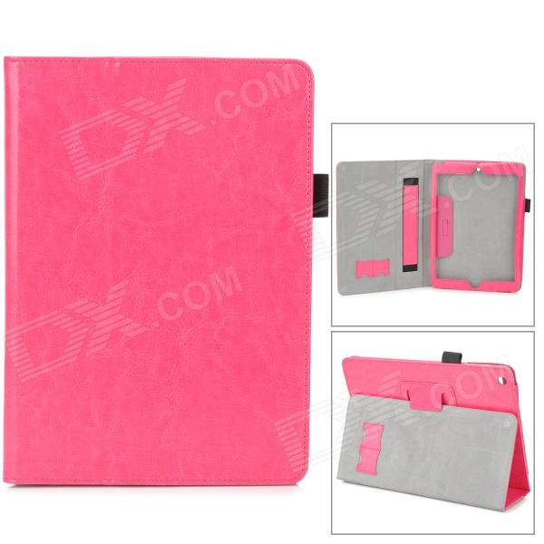 все цены на Protective PU Leather Case w/ Hand Strap Holder for Ipad AIR - Deep Pink онлайн