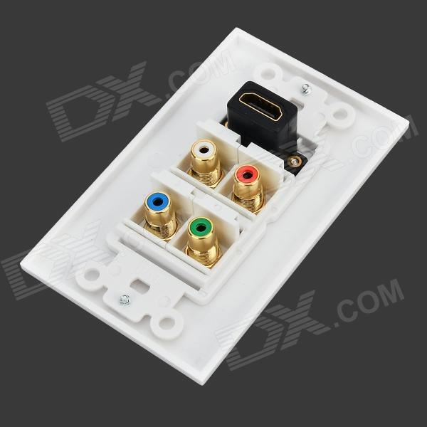 Hd4 hdmi video audio wall mounted socket panel white Video hd4