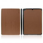 ENKAY ENK-3151 3-Fold Protective PU Leather Case Cover Stand w/ Auto Sleep for Ipad AIR - Brown