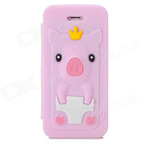 Cute Crown Pig Style Protective Silicone Case for Iphone 5 ...