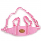 H2YH Corduroy Baby Learn Wend Belt - White + Pink