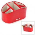 LGR-13005 Alligator Pattern PU Leather Jewelry Cosmetic Storage Decoration Box - Red