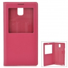 Protective PU Leather Case w/ Battery Back Cover for Samsung N9006/N9002/N9005/N9000 - Deep Pink