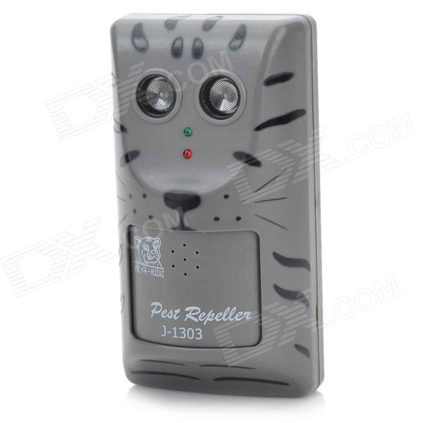 J-1003 Ultrasonic Mouse Repeller - Black (EU Plug)