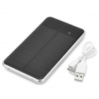 "Dual-USB Solar Mobile ""10000mAh"" Power Bank for Iphone / Samsung / HTC - Black + Silver"