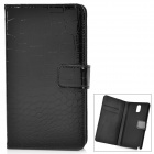 Crocodile Pattern Protective PU Leather Case Cover w/ Card Slot for Samsung Galaxy Note 3 - Black