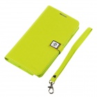Ailun Protective PU Leather + TPU Case w/ Card Slot for Samsung Galaxy Note 3 N9000 - Blue Green