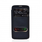 TEMEI PU Leather Case Cover w/ Visual Window / Slide to Unlock for Samsung Galaxy Mega 5.8 - Black