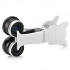 LX-U005 Universal 3-in-1 Clip-on Fish Eye Wide Angle + Macro Lens for Cellphone - Black