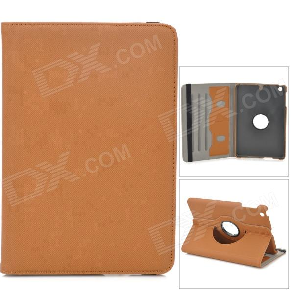 Stylish Protective 360 Degree Rotation PU Leather Case for Retina Ipad MINI - Light Brown чехол для iphone 5 mitya veselkov влюбленный робот