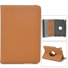 Stylish Protective 360 Degree Rotation PU Leather Case for Retina Ipad MINI - Light Brown