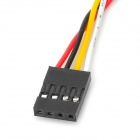 PVC 4-Pin Dupont Cable for Arduino - Black + Multicolored (22cm)