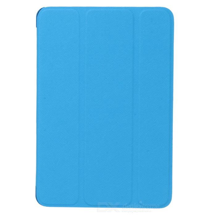 Stylish Protective PU Leather Case w/ Auto Sleep for Retina Ipad MINI - Sky Blue + White