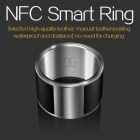 GalaRing G1 Ring with NFC for Smart Phone / Tablet PC / Unlock Door - Black Grey + Silver (Size S)