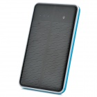 "Dual-USB Solar Mobile ""10000mAh"" Power Bank for Iphone / Samsung / HTC - Black + Blue"