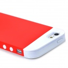 Protective Frosted Silicone + PC Back Case for Iphone 5 / 5s - Red + White