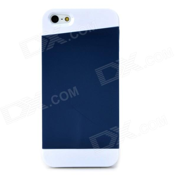 Protective Matte Silicone Case for Iphone 5 / 5s - Dark Blue + White asus zenfone 2 laser ze500kl 8gb white