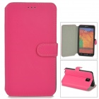 Protective PU Leather Case w/ Card Slot for Samsung Galaxy Note 3 N9000 - Deep Pink