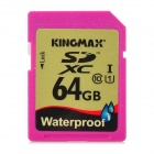 KINGMAX Wasserdicht UHS-I-Speicherkarte - Deep Pink + Golden (64GB)