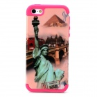 Statue of Liberty Pattern Protective Silicone + PC Case for Iphone 5 / 5s