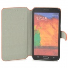 Protective Flip Open PU Case w/ Stand for Samsung Note 3 N9000 - Orange