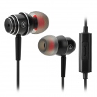 Salar EM-511 3.5mm Super Bass In-ear Earphone w/ Microphone - Black (120cm)