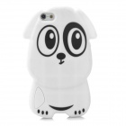 gel0191 Protective Cute Dog Style Silicone Back Case for Iphone 5 - White + Black