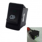 Jtron Auto Switch / Fog Green Light Switch - Black + Green (35A / 12V)