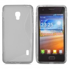 S Pattern Anti-slip TPU Back Case for LG Optimus D500 - Grey