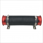 Universal Flexible Cold Air Intake kit - Black + Red
