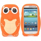 ZZ-SX-9300-01-CHENGSE Turtle Style Silicone Back Case for Samsung Galaxy S3 i9300 - Orange