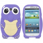 ZZ-SX-9300-01-LANSE Turtle Style Silicone Back Case for Samsung Galaxy S3 i9300 - Purple