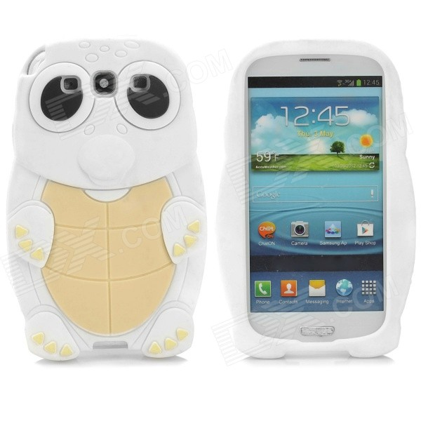 ZZ-SX-9300-01-BAISE Turtle Style Silicone Back Case for Samsung Galaxy S3 i9300 - White