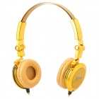 ibue Fashion Stereo 3.5mm Headphone - Golden