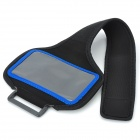 Convenient Sports Velcro PVC + Nylon Arm Bag for Samsung Galaxy S3 Mini i8190 - Black + Blue