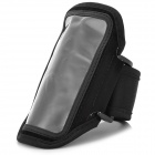 Convenient Sports Velcro PVC + Nylon Arm Bag for Samsung Galaxy S3 Mini i8190 - Black