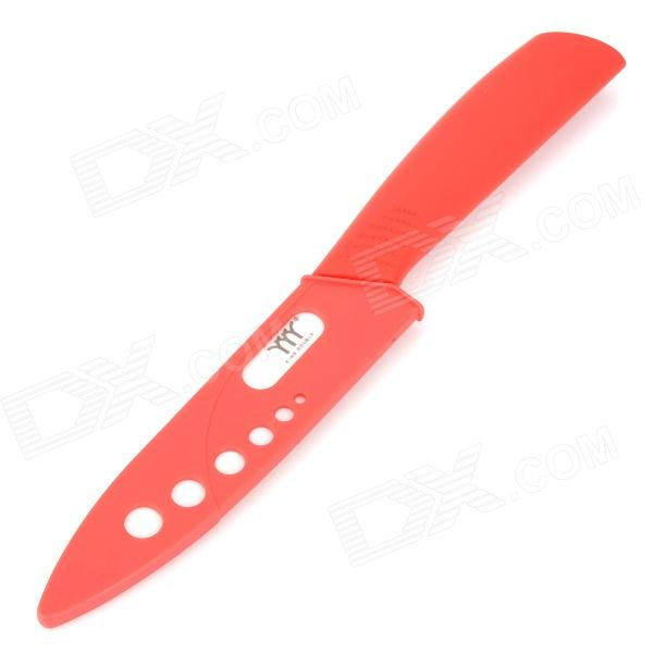 KING DOUBLE KRN-A5T 5 Zirconia Ceramic Utility Knife w/ Sheath - Red + White bestlead chinese peony pattern zirconia ceramics 4 6 knife chopping knife peeler holder