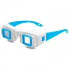 Side-by-Side Stereo 3D Glasses for Computer / TV / Projector - White + Light Blue
