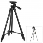 YUNTENG VCT-520 3-section Aluminum Alloy Tripod for DSLR - Black