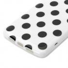 Stylish Polka Dot Pattern TPU Back Case for Google NEXUS5 - Black + White