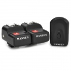 WANSEN PT-04GY Universal 1-to-2 2 Receivers Wireless Flash Trigger for Nikon / Canon - Black