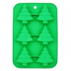 GEl0189 Christmas Trees Style Silicone Cake Bread Muffin Mold - Olive Green
