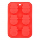 GEL12 Snowman Style Silicone Cake Pizza Baking Mold - Red