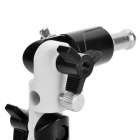 180 Degree Rotatable 3 Section Flash Light Mount Stand Holder - Black + Grey White