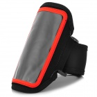 Convenient Sports Velcro PVC + Nylon Arm Bag for Samsung Galaxy S3 Mini i8190 - Black + Red
