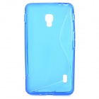 S Pattern Protective TPU Case for LG Optimus D500 - Blue