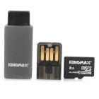 KINGMAX Class10 8GB TF / Micro SDHC Card + TF-Kartenleser Set - Schwarz + Blau