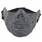 M05 Zombie Style Half-Face Tactical Shock-Proof Mask - Black