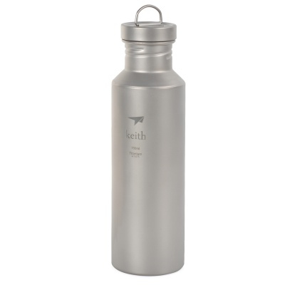 Keith Ultra-Lightweight Titanium Water Bottle - Silver Grey (700mL)