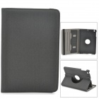 Stylish Protective 360 Degree Rotation PU Leather Case for Retina Ipad MINI - Black Grey